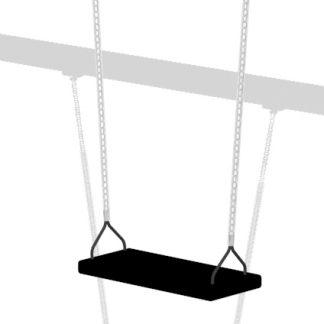 Gungsits; Gummigungsits med aluminiumkärna, svart