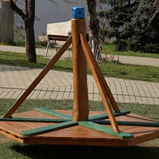 Balansbräda/karusell i robinia/ek (HH1E00-001)