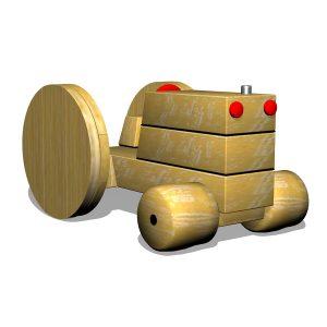 G700402 Traktor i trä
