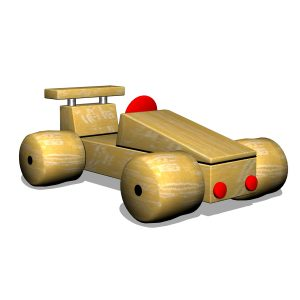 G700406 Racerbil i trä