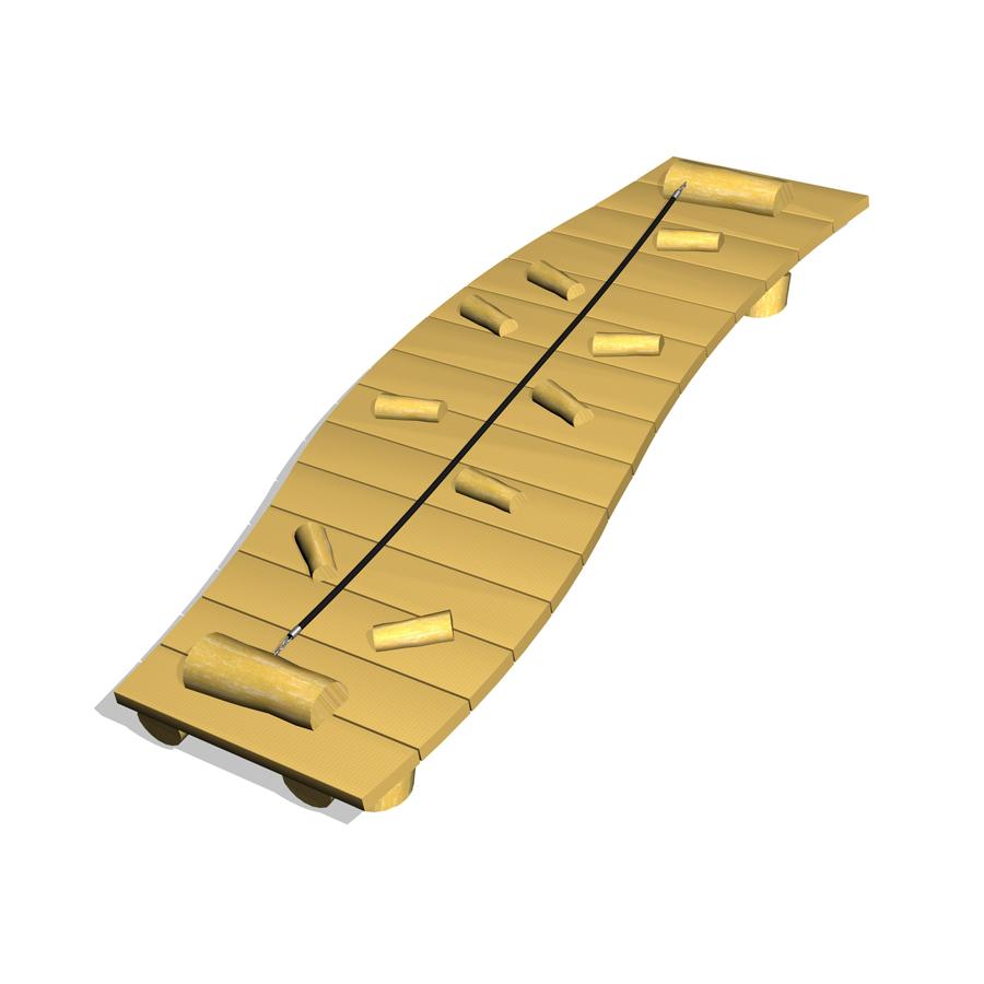 Woodwork AB-klätterramp med rep