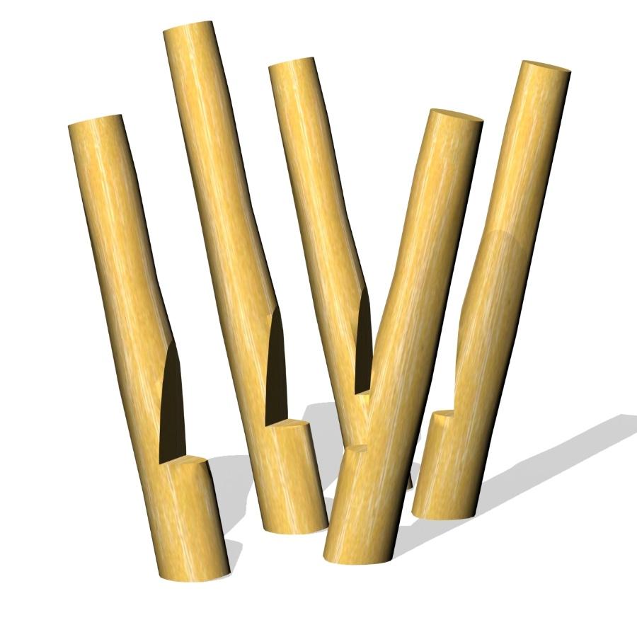 Woodwork AB - Styltor tillverkade i miljövänlig obehandlad robinia