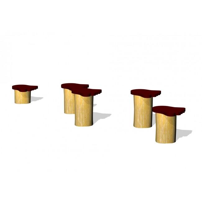 G2948 Woodwork AB Hoppstolpar i robinia med björnfötter