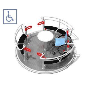 Karusell med plats för rullstol, IP-GM0621
