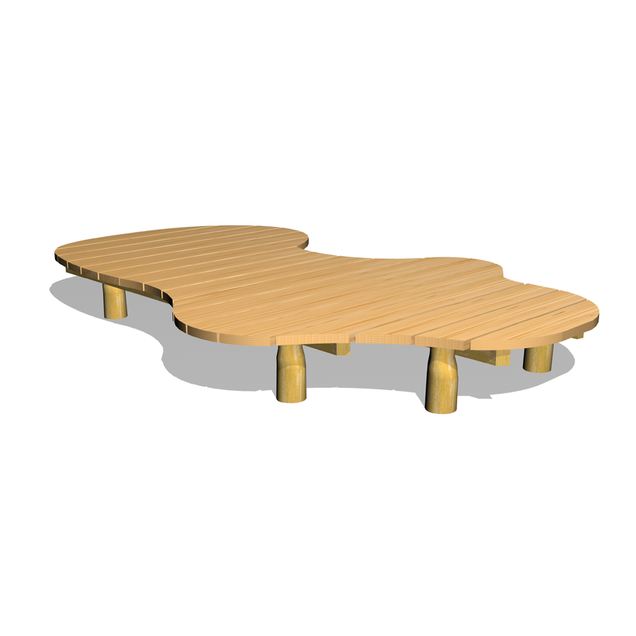 Stort lekgolv/plattform-Woodwork AB