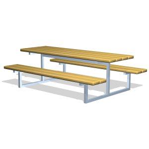 G10230 Bord-bänkset i trä och stål