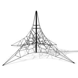 Klätterpyramid i stål, 5m -G3706