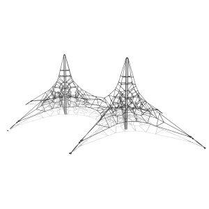 Dubbel klätterpyramid i stål – G3712