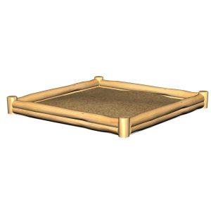 Sandlåda Kvadrat med dubbel kant(G5320)