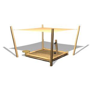 G5324 Sandlåda med solsegel