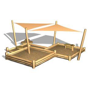 G5326 Sandlåda i nivåer/solsegel