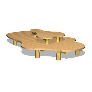 G80012 Bord/bänk möbel i organisk form