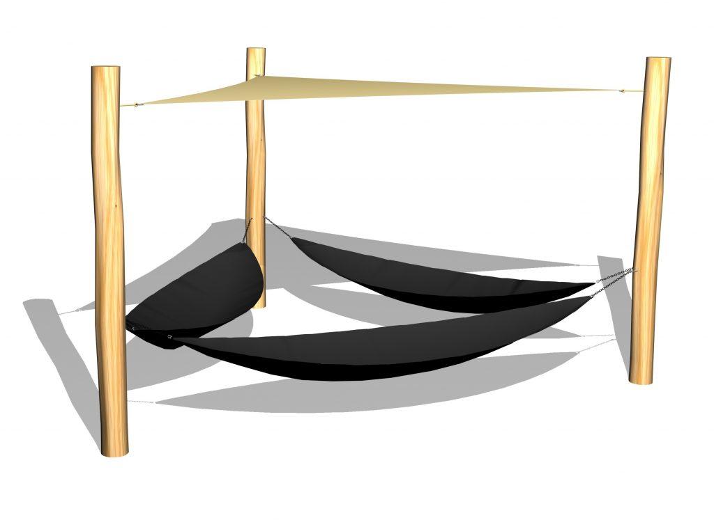 Hängmattor med solsegel-Woodwork AB