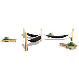 G80035 System med hängmattor & sittmöbler