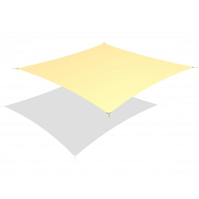 Solskydd; kvadratiskt solsegel 3 x 3 m