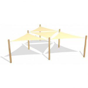 G26412 4 st trekantiga solsegel 3.6 x 3.6 x 3.6 m