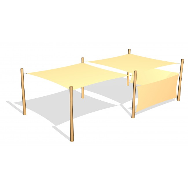 G26422 Två stycken solsegel och två sidosegel från Woodwork AB