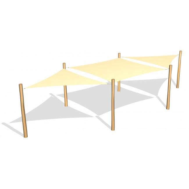 Tre- & fyrkantiga solsegel från Woodwork AB