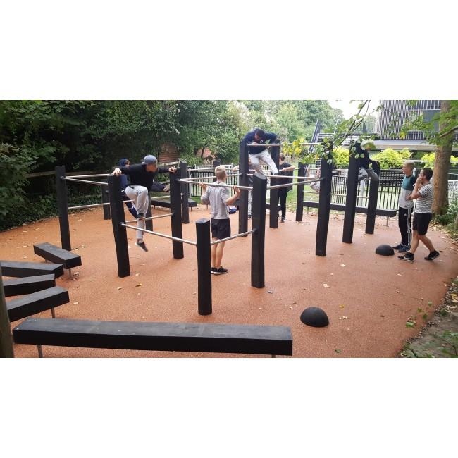 G3660 Parkoursystem i robinia och stål från Woodwork ABG3660 Parkoursystem i robinia och stål från Woodwork AB
