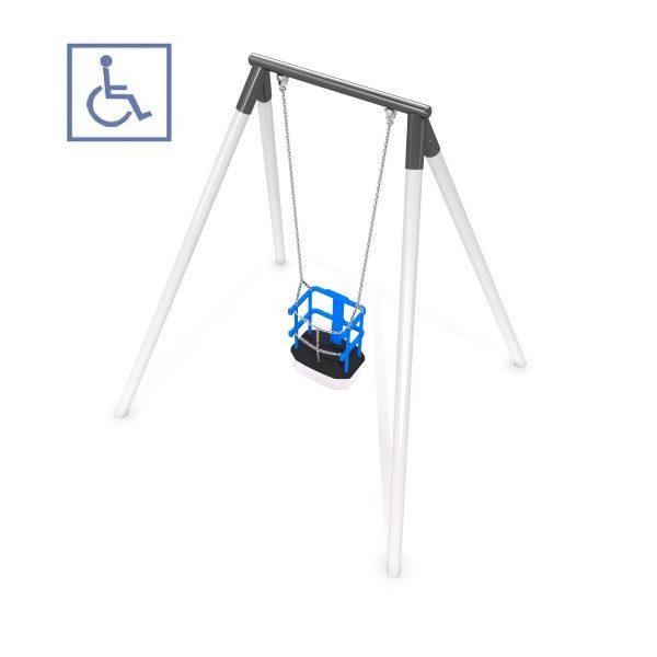 Gungställning med handikappanpassad sits