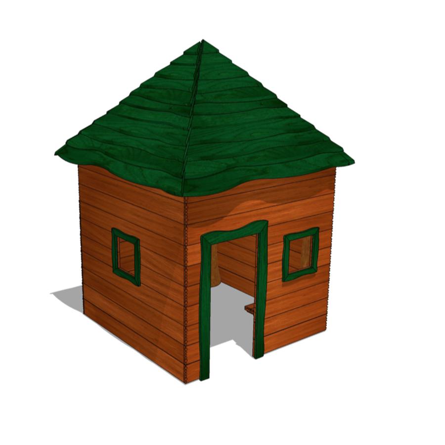 Woodwork AB-lekstuga med dörr & fönster