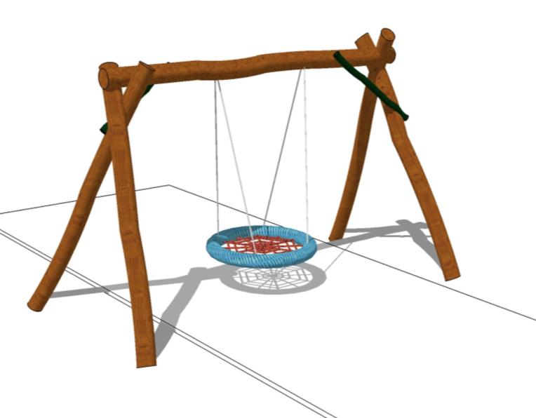 Gungställning i robinia med kompisgunga - Woodwork AB