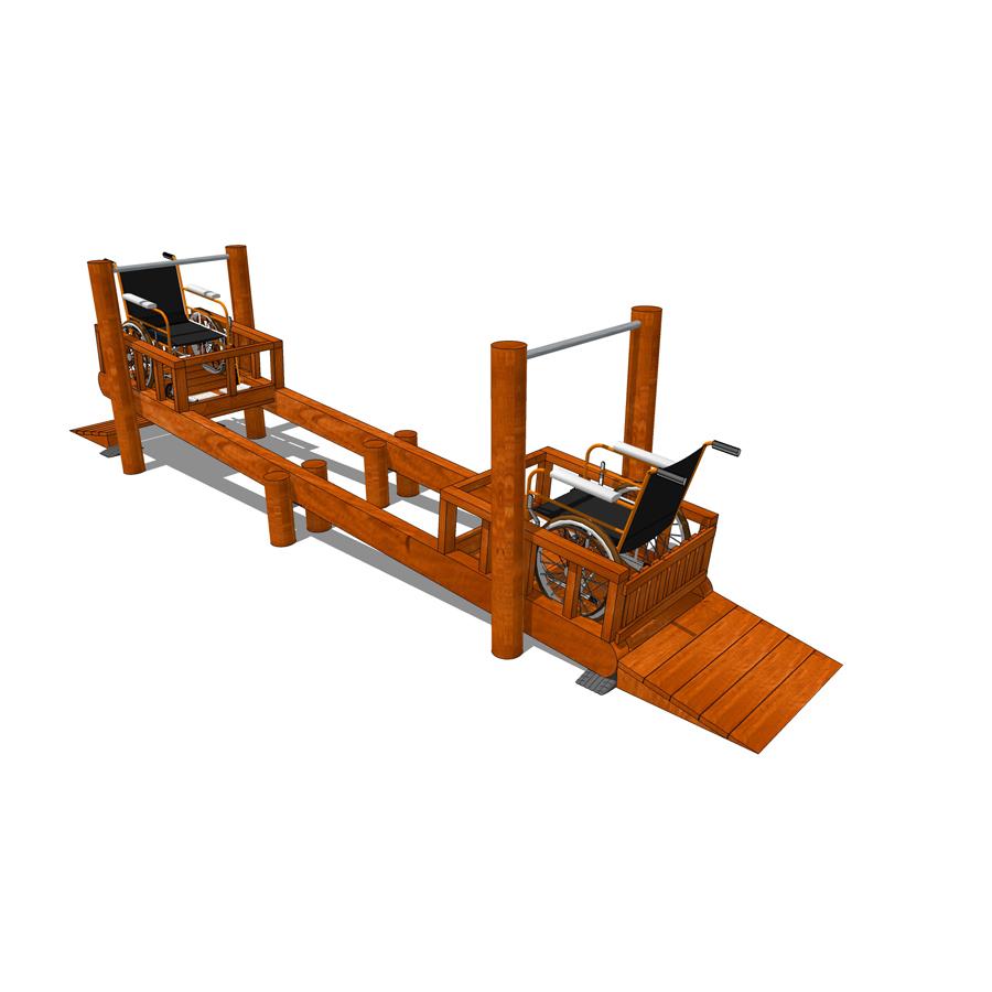 Gungbräda anpassad för rullstol- WoodworkAB