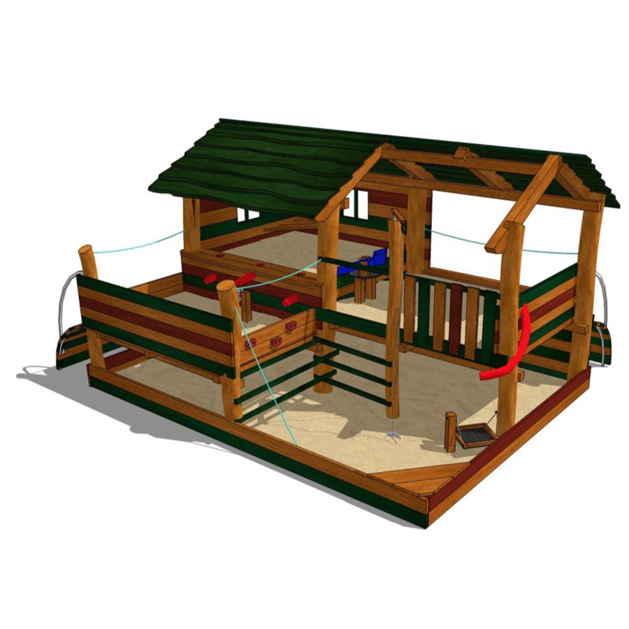 Woodwork AB-Lekstuga/sandlåda de luxe