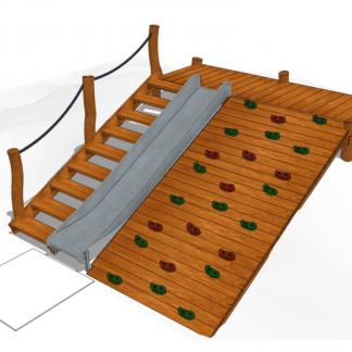 HH1J00-002 Rutschkana med klätterramp/trappa
