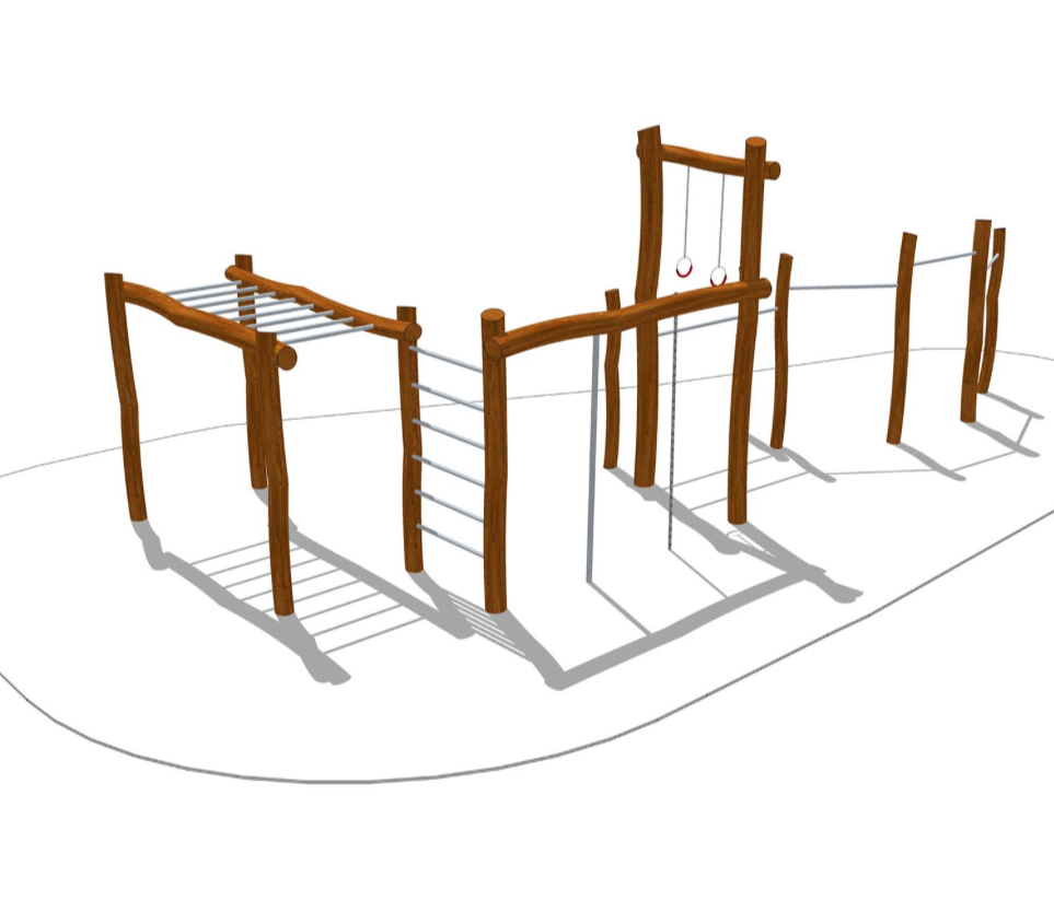 Woodwork AB-Utegym-träningsstation i robinia