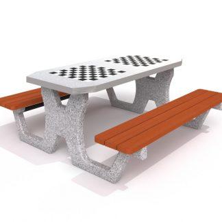 IP-MR8002 Dubbelt schackbord i betong