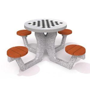 IP-MR8003 Runt schackbord i betong