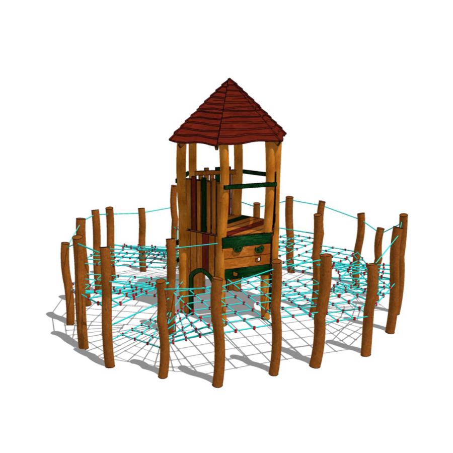 Klättertorn med klätternät-Woodwork AB