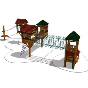 Lekställning med stolphus & klättertorn (HH1I03-402)