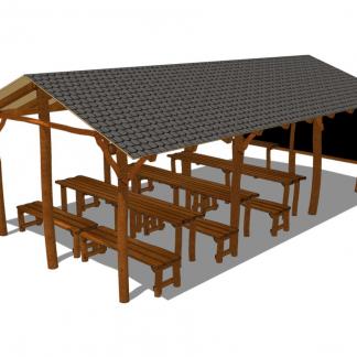 Uteklassrum komplett med bord & bänkar – HH3A00-011