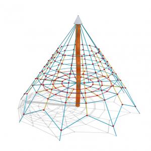 Klätterpyramid med nät,  mast i robinia – HH1H00-001