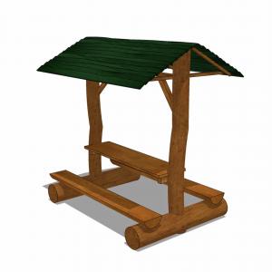 Bord- och bänkset med skyddande tak – HH3A00-010