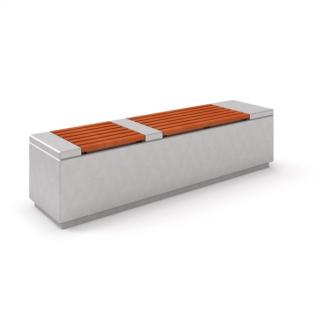 IP-DECO 3 Bänk i betong/trä