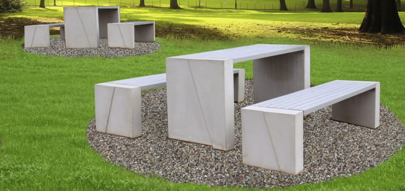 Sittgrupp i betong & trä-WoodworkAB