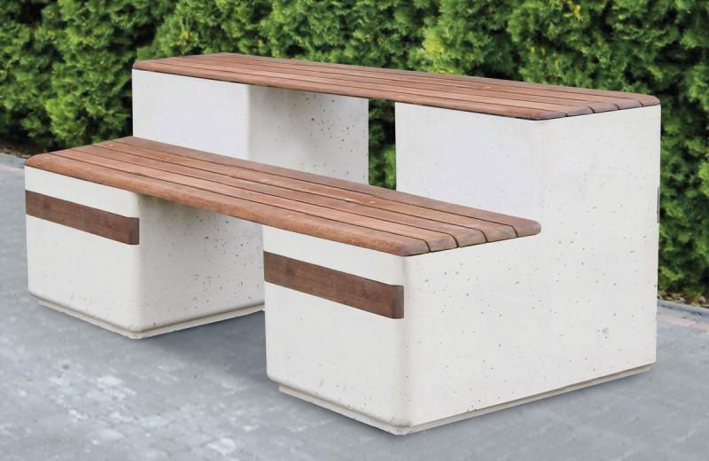 Bänk i trä och betong - Woodwork AB