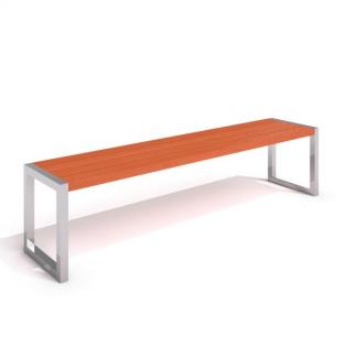 IP-RS 06 Bänk i rostfritt stål/trä