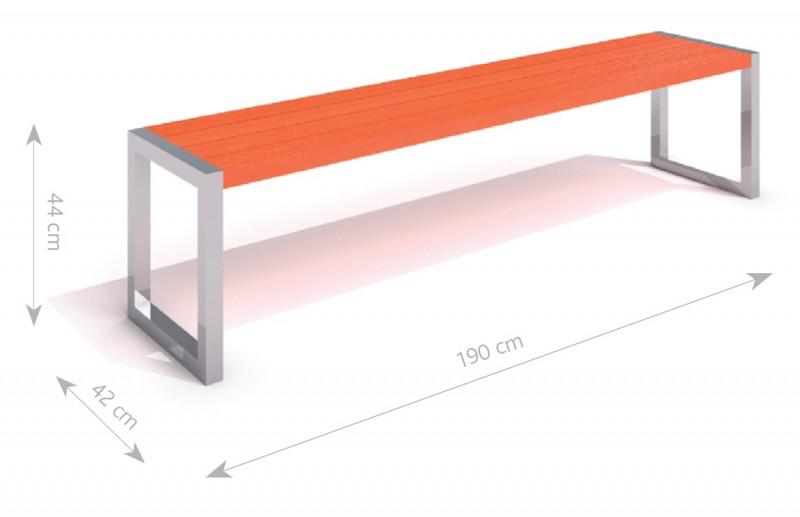 Bänk i rostfritt stål med träsits-Woodwork AB