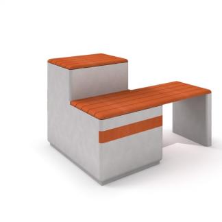 IP-DECO 13 Bänk i betong/trä