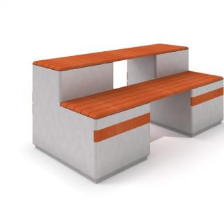 IP-DECO12 Bänk i betong/trä