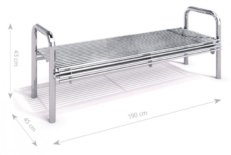 Tålig bänk i rostfritt stål-Woodwork AB