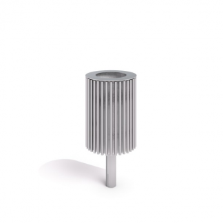Papperskorg i rostfritt stål (IP-KH03NX005)