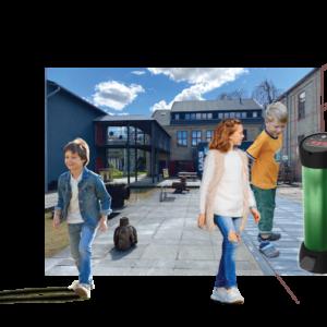 Interaktiv lek; Spelsockel med fyra olika spel (E23)