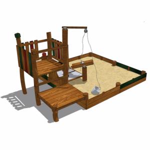 Sandlåda i form av grustag med sandkran och sandvippa – HH1G00-019