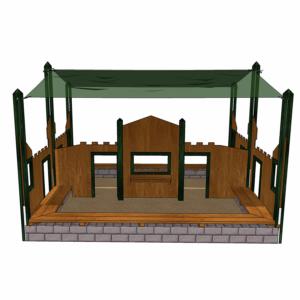 Sandlåda med lekvägg och köpmansdisk – HH1G00-013