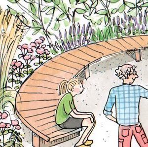 OWI Insektsträdgård med bänkar och läromaterial